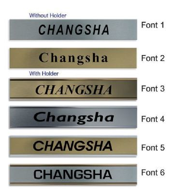 Changsha Clock Name Plate |World Time Zone City Wall clocks Sign custom Plaque